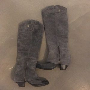 Tall grey riding boots by Fergie